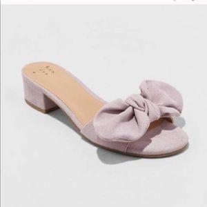 Zara lavender slides